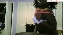 Ebony girl Has Phonesex With Her BF