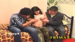 Turkish girl with two guys
