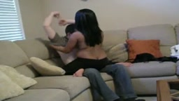 Chubby Indian bhabhi foreplay action in UK