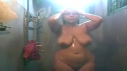 Thick wife self shower shoot