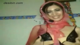 Beautiful Pakistani girl giving a nice strip show