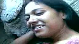 Beautiful Bengali girl in park