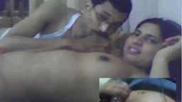 Hot couple boobs suck foreplay