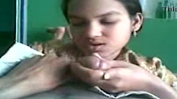 Indian whore giving blowjob to customer