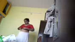 Desi mom Kavitha saree stripping hidden cam
