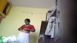 Desi mom Kavitha saree stripping hidden cam