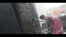 Village Hot Aunty Bath by Hand Pump