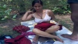 Indian Girlfriend Fucked Outdoors