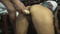 Dirty Old Man Doggystyle Dildo Indian MILF