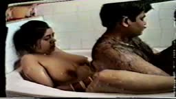 Real hairy Indian dude cuddling in bathroom
