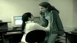 Indian lesbians in action in office while boss is away