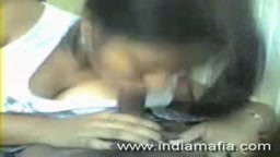 Hot Indian girlfriend Kamla blowjob