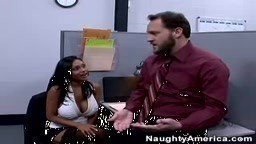 Big boob Priya Rai in the office