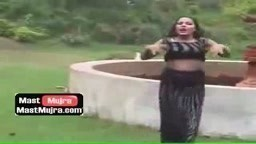 Rain mujra in black dress