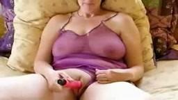 Big boob Amateur mature dildo masturbation