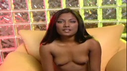 Indian pornstar soaking the couch with pussy juice