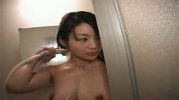 Slender Japanese steamy shower tease