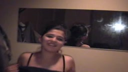 Desi girl strips for camera