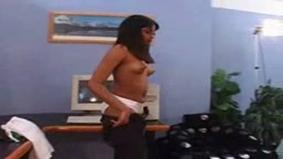 Indian babe Geetha giving blowjob in porn audition
