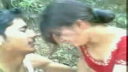 Indian couple in open public place
