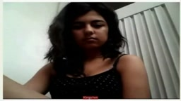 Indian smoking girl on webcam
