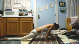 Flexible Gymnastic Indian Teen Shows Her Moves