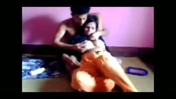 Couple having fun on the floor