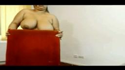 Chubby Arab Aunty Naked Tease