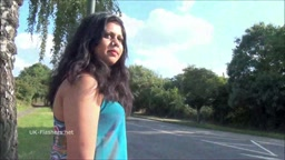 UK NRI BBW Kikis Flashes in Public