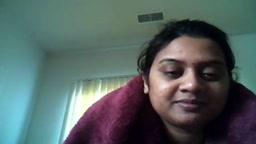 Aunty exposing herself to lover over webcam