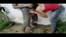 Indian college students having fun outdoors