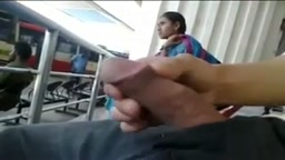 Stupid Indian Masturbating at Bus Stop
