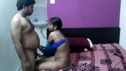 Mature Tamil couple fucking in hotel