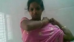 Pink Saree Cute Desi Sucks and Fucks