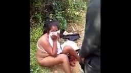 Desi young couple caught fucking in jungle