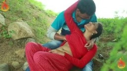 Telugu Romance Young Couple Outdoor