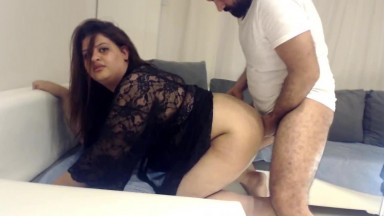 Indian Aunty blowing and poking ass with her husband's friend Part 1