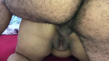 Indian Aunty blowing and poking ass with her husband's friend Part 2